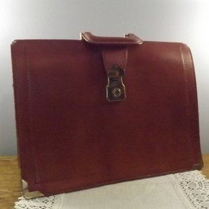 Brown Cowhide Solid Leather Document Carrier